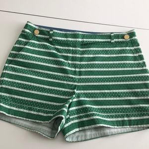 Anthropologie Meadow Rue green shorts. Size 8.